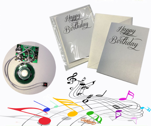 Custom Sing Song Musical Greeting card for birthday