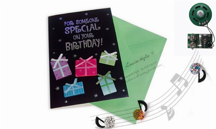 musical happy birthday greeting card